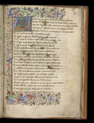 Historiated Initial With The Heraldic Crest Of Margaret Plantagenet (?), In James Nicholas of Denmark's Poems